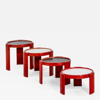 Gianfranco Frattini Gianfranco Frattini Low Tables 780 783 for Cassina in painted wood