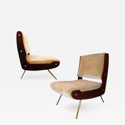 Gianfranco Frattini Gianfranco Frattini Pair of Mid Century Slipper Chairs