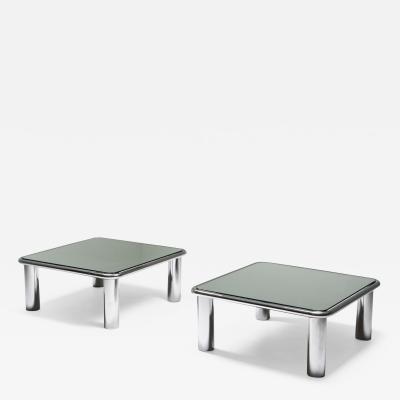 Gianfranco Frattini Gianfranco Frattini Pair of Mirrored Coffee Tables for Cassina 1960s