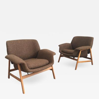 Gianfranco Frattini Iconic Pair of Armchairs 849 by Gianfranco Frattini for Cassina
