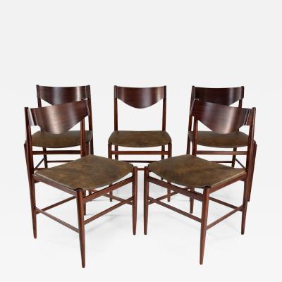 Gianfranco Frattini Italian Mid Century Dining Chairs by Gianfranco Frattini Set of 5 1960s