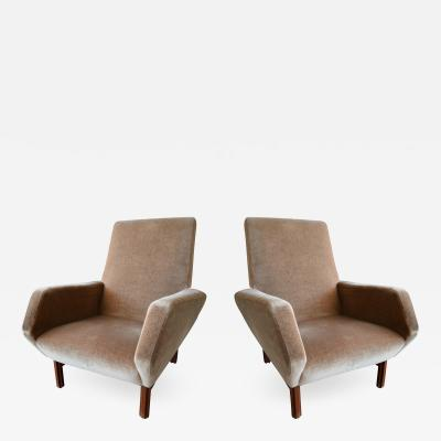 Gianfranco Frattini Pair of Italian Modern Prototype Chairs