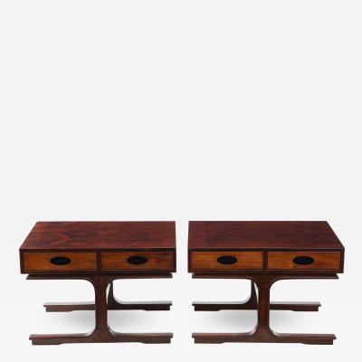 Gianfranco Frattini Pair of Low Tables By Gianfranco Frattini for Bernini