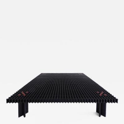 Gianfranco Frattini Rare Black Kyoto Coffee Table by Gianfranco Frattini for Ghianda
