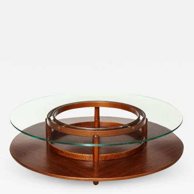 Gianfranco Frattini Round Low Table by Gianfranco Frattini for Cassina Italy c 1960