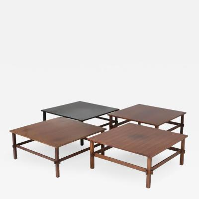 Gianfranco Frattini Set of Four Coffee Tables Model 740 by Gianfranco Frattini for Cassina