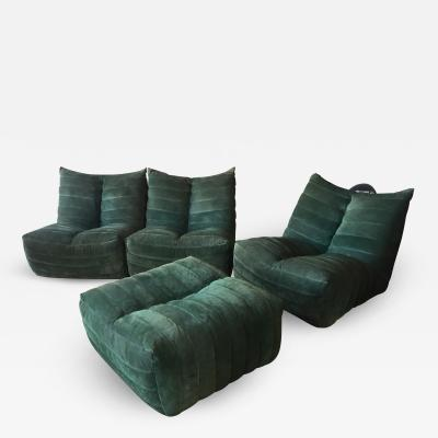 Gianfranco Grignani Modular Green Sectional Sofa Giannone by Arch G Grignani for 7Salotti Italy