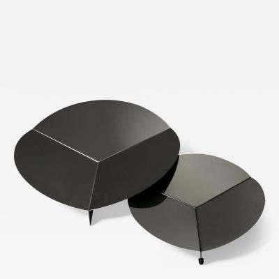 Gianfranco Grignani Pair of Steel Centerpieces by Grignani for Luci