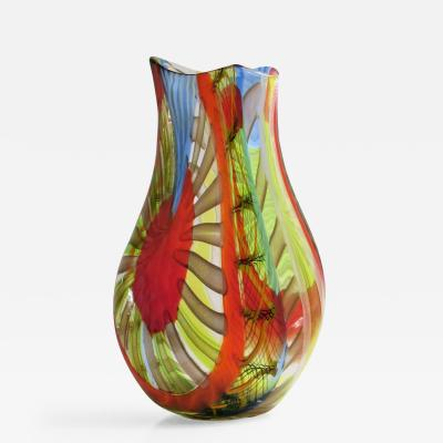 Gianluca Vidal Murano Contemporary Vase