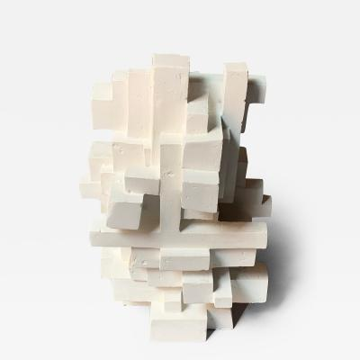 Gianluca Vignobles Gianluca Vignobles Geometric Abstract Sculpture in White Plaster Italy 2020