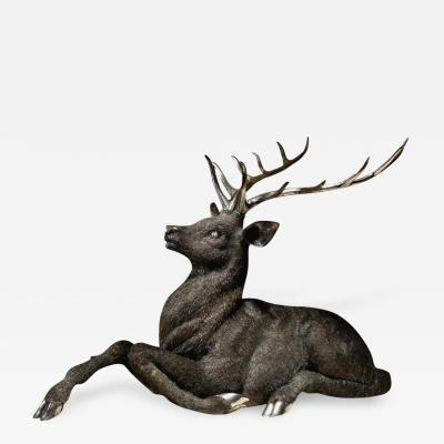 Gianmaria Buccellati a Rare and Exceptional Italian Silver Deer Stag