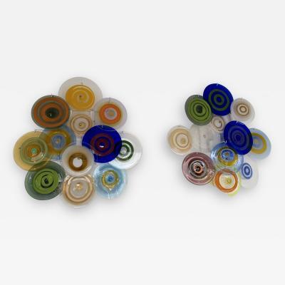 Gianmaria Potenza Pair of Murano Glass Sconces by Gianmaria Potenza for La Murrina Italy 1970s
