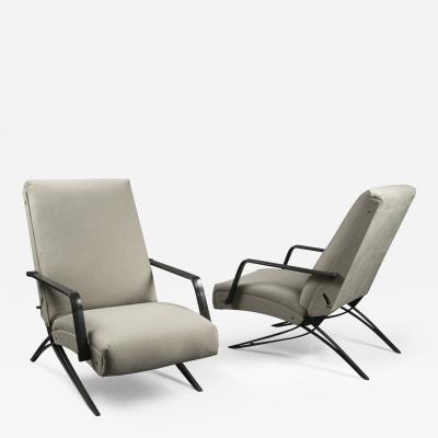 Gianni Moscatelli N10482 Pair of Recliners by Gianni Moscatelli for Formanova Italy 1960s