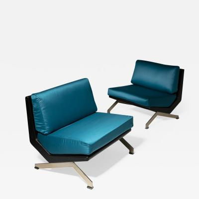 Gianni Moscatelli Pair of Lounge Chairs by Gianni Moscatelli for Formanova