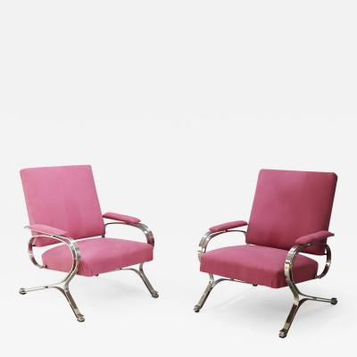 Gianni Moscatelli Pair of MidCentury armchair Micaela by Gianni Moscatelli for Formanova 1970s