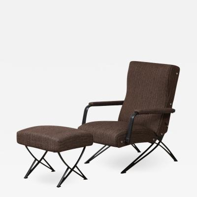 Gianni Moscatelli Reclining Chair with Ottoman by Gianni Moscatelli for Formanova