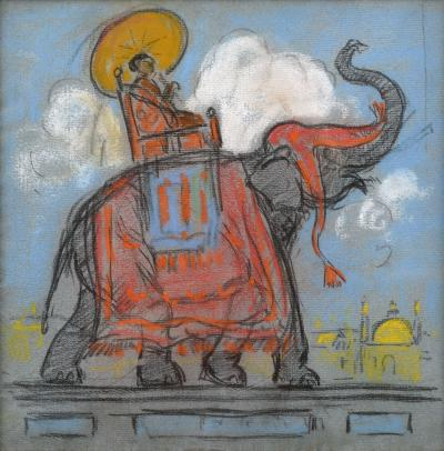 Gifford Beal Riding the Elephant