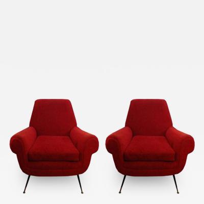 Gigi Radice A Pair of Mid Century Club Chairs by Gigi Radice