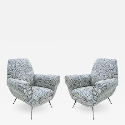 Gigi Radice Pair of Armchairs Designed by Gigi Radice for Minotti