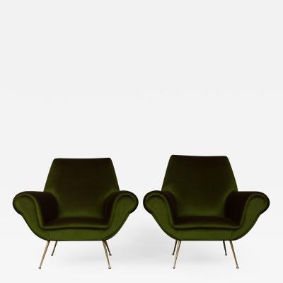 Gigi Radice Pair of Gigi Radice lounge chairs for Minotti