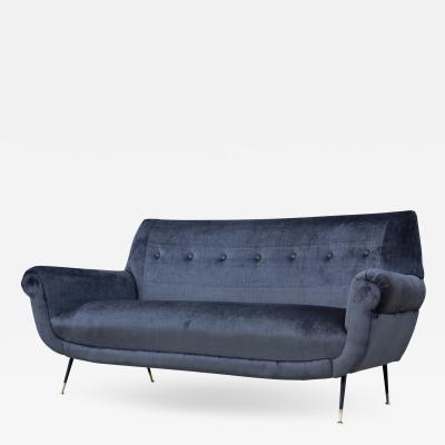 Gigi Radici Gigi Radice Mid Century Modern Velvet Sofa