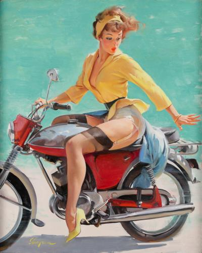 Gil Elvgren Skirting the Issue
