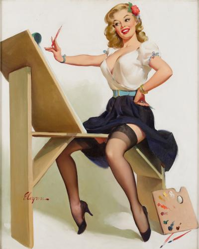 Gil Elvgren The Right Touch