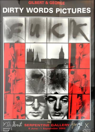 Gilbert George Dirty Words Pictures Fuck by Gilbert George