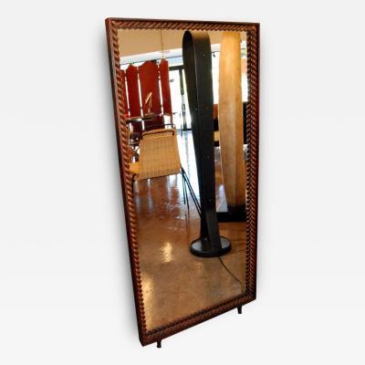 Gilbert Poillerat 1940s Standing Mirror By Gilbert Poillerat