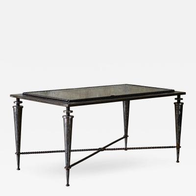 Gilbert Poillerat Gilbert Poillerat Iron and Glass Coffee Table