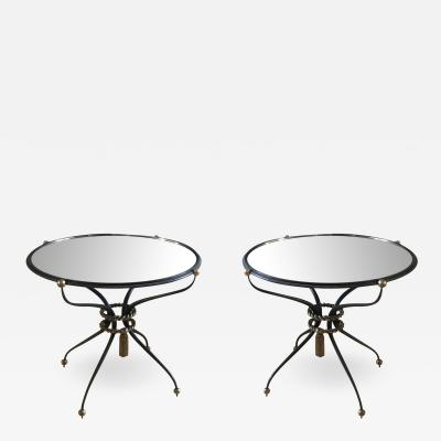 Gilbert Poillerat Gilbert Poillerat attributed Pair of Refined Wrought Iron Coffee Table