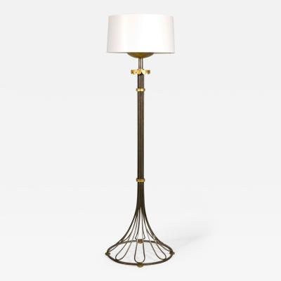Gilbert Poillerat Important Wrought Iron Floor Lamp by Gilbert Poillerat Circa 1946