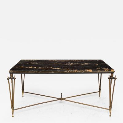 Gilbert Poillerat Rare Bronze and Iron Coffee Table Design Inspired by Gilbert Poillerat