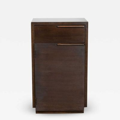 Gilbert Rohde Art Deco Hand Rubbed Burled Walnut Nightstand by Gilbert Rohde for Herman Miller