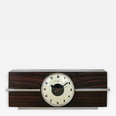 Gilbert Rohde Art Deco Rosewood Clock Gilbert Rohde for Herman Miller
