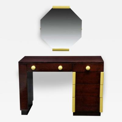Gilbert Rohde Art Deco Vanity Desk And Mirror Gilbert Rohde for Cavalier