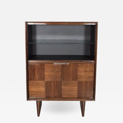 Gilbert Rohde Art Deco Walnut Bar or Cabinet Designed by Gilbert Rohde for Herman Miller