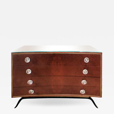 Gilbert Rohde Gilbert Rohde Beutifully Crafted Chest of Drawers in India Rosewood 1939