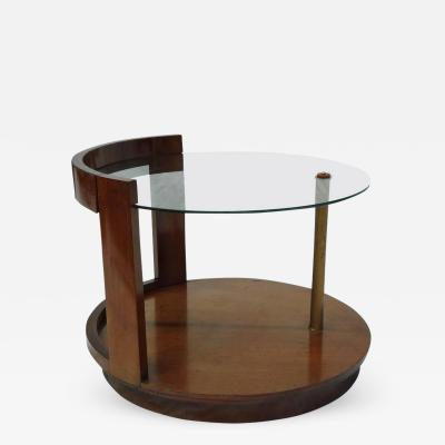 Gilbert Rohde Gilbert Rohde for Herman Miller Art Deco Walnut Cocktail Table circa 1939