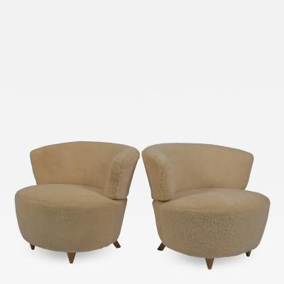 Gilbert Rohde Gilbert Rohde pair lounge chairs Herman Miller 1940