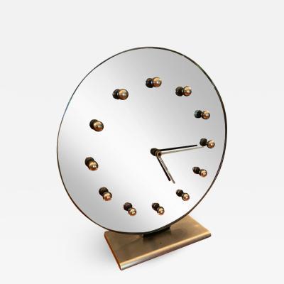 Gilbert Rohde LARGE RARE GREY MIRRORED MODERNIST CLOCK BY GILBERT ROHDE