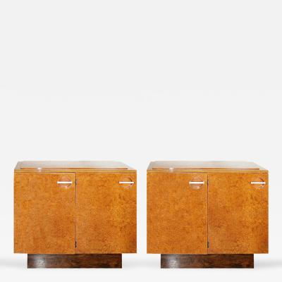 Gilbert Rohde Pair Streamline Art Deco Server Cabinets by Gilbert Rohde