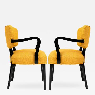 Gilbert Rohde Pair of 1960s Modern Armchairs or Side Chairs in the Manner of Gilbert Rohde