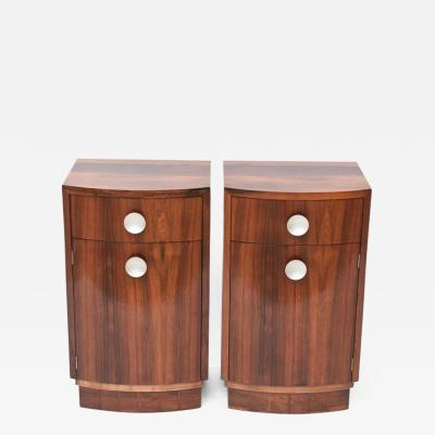 Gilbert Rohde Pair of American Late Art Deco Paldao Bedside Cabinets Gilbert Rohde