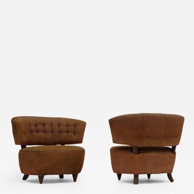 Gilbert Rohde Pair of Gilbert Rohde Slipper Lounge Chairs