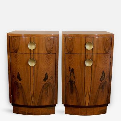 Gilbert Rohde Pair of Rosewood Veneer Gilbert Rohde for Herman Miller Nightstands