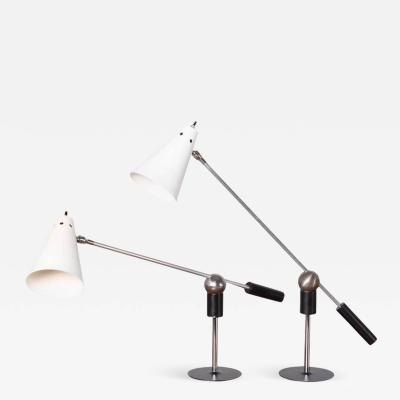 Gilbert Watrous Pair of Magnetic Table Lamps by Gilbert Watrous for Heifetz 1955