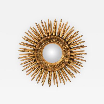 Gilded Convex Sunburst Mirror
