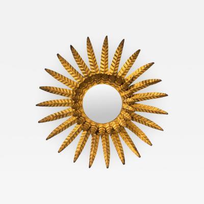 Gilded Sunburst Mirror