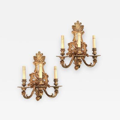 Gilt Bronze Neoclassic Sconces